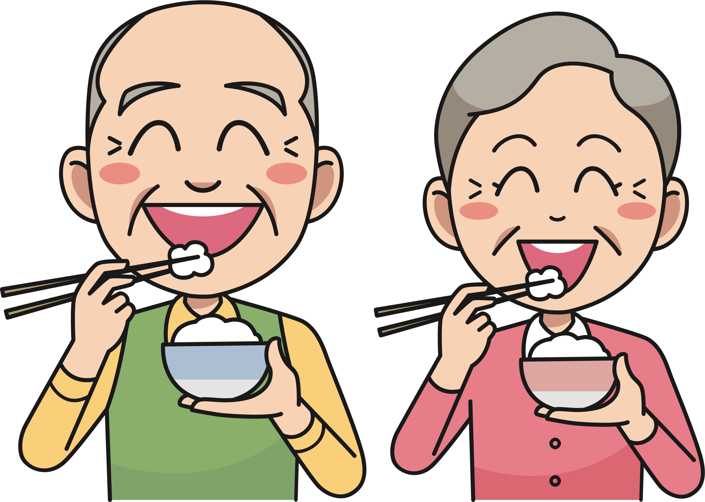 Eat clipart. Couple eating rice big