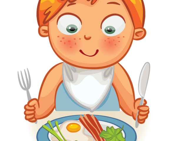 Eating clipart boy. Kids dinner crafts and