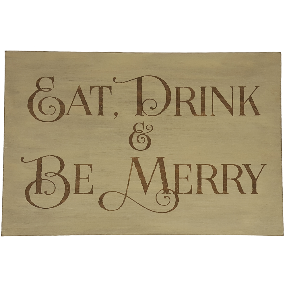 Eat drink be merry png. Wooden sign pickle hill