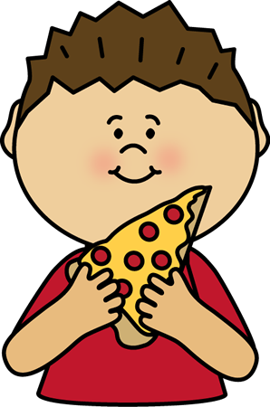 Eating clipart. Boy pizza postacie do