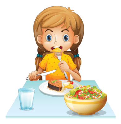 Eating clipart. Young girl the arts
