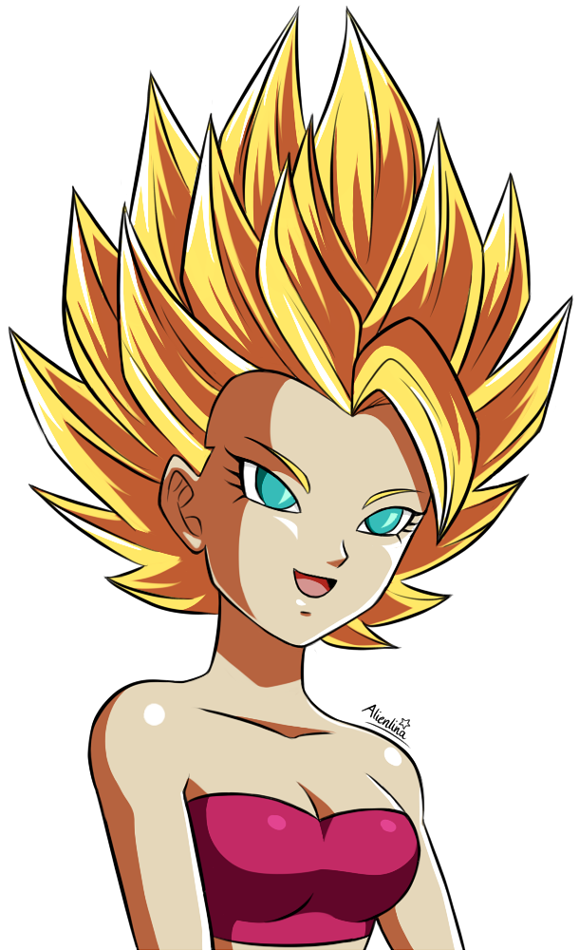 Ecchi drawing kefla. Ss caulifla by alienlina