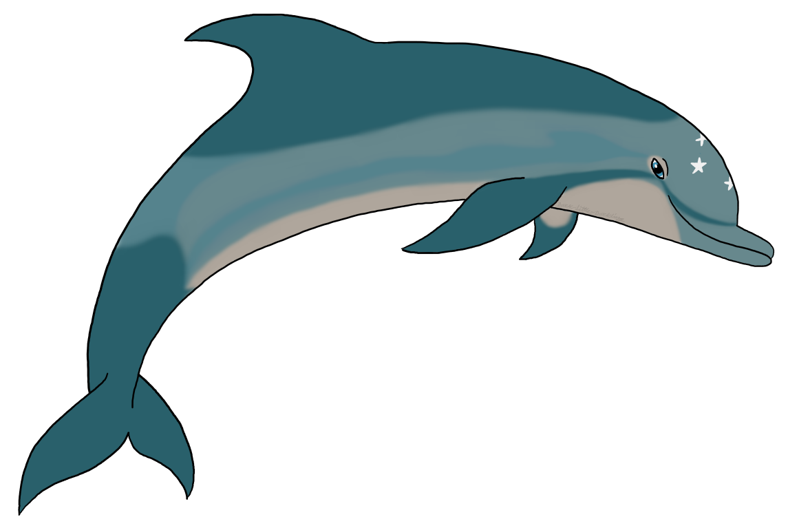 Ecco the dolphin png. I tried to draw