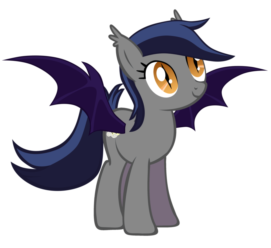 Echo drawing outline. The bat pony by