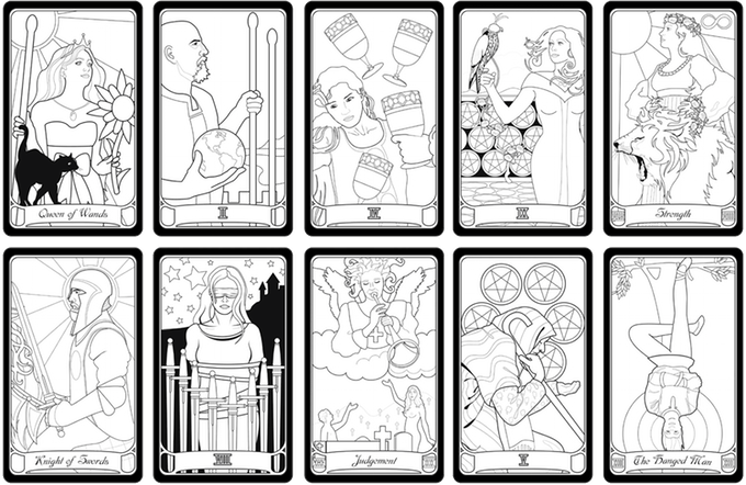 Tarot drawing one. Color your own echo