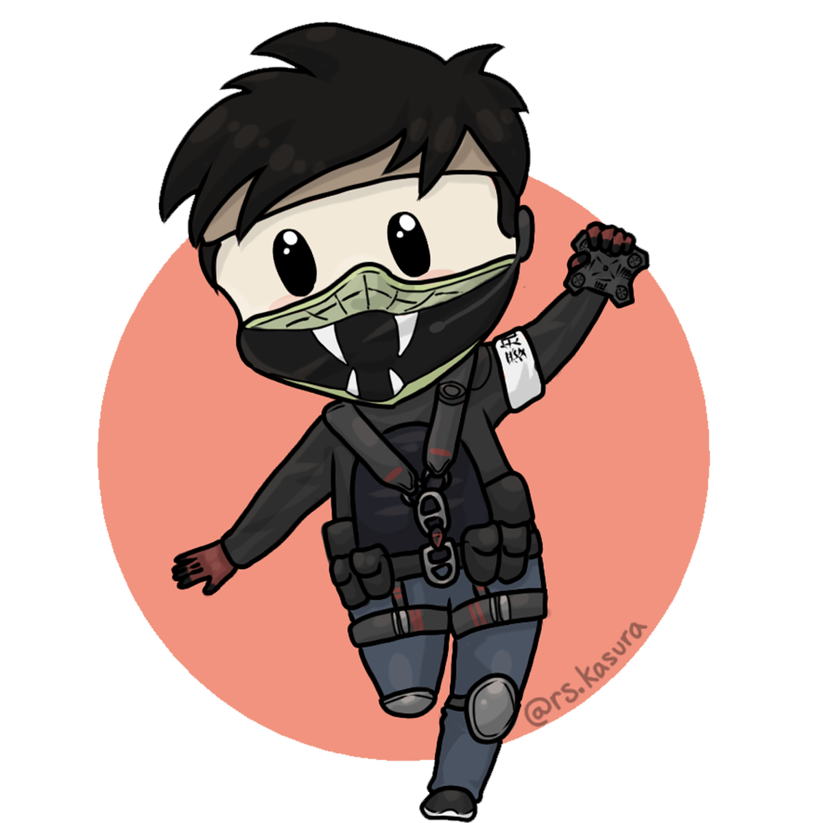 echo drawing rainbow six siege