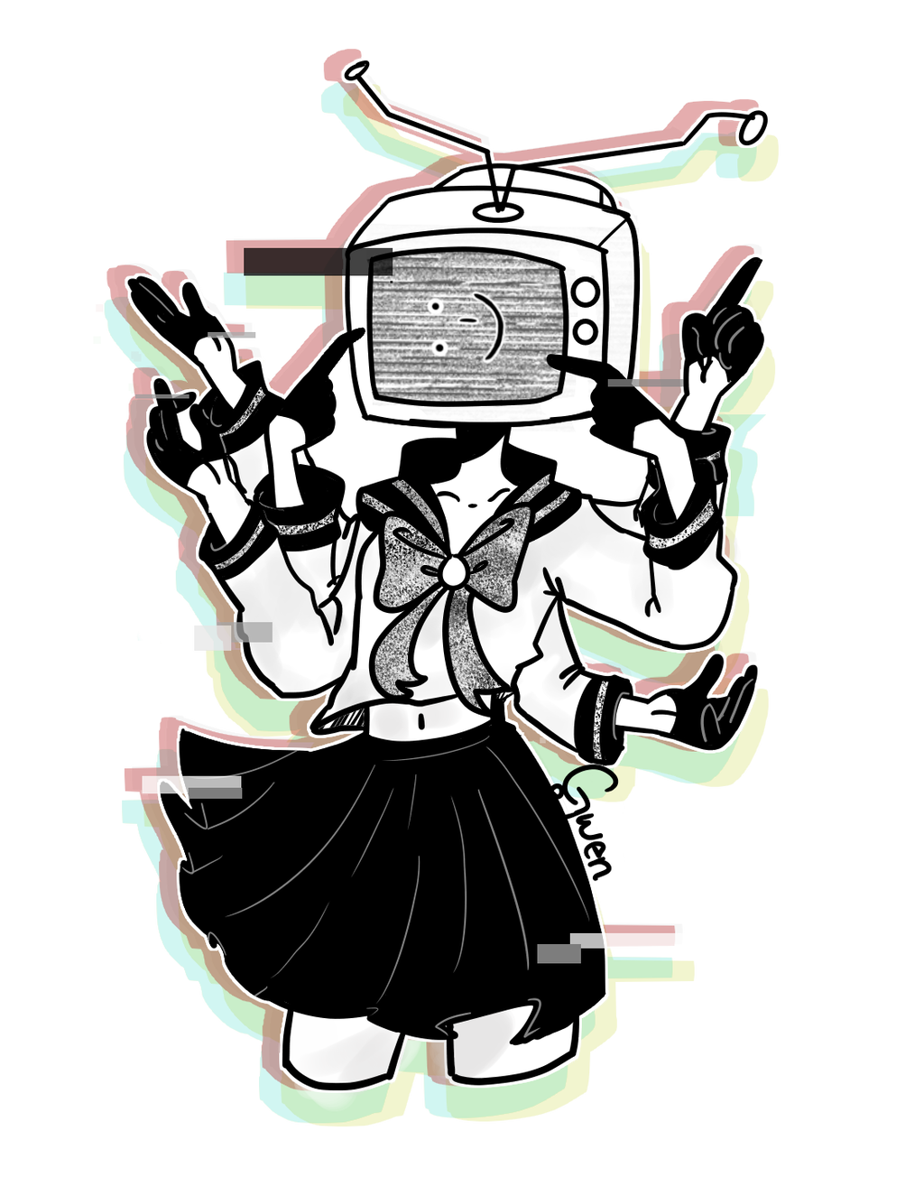 Echo drawing song. Gumi vocaloid by gwen