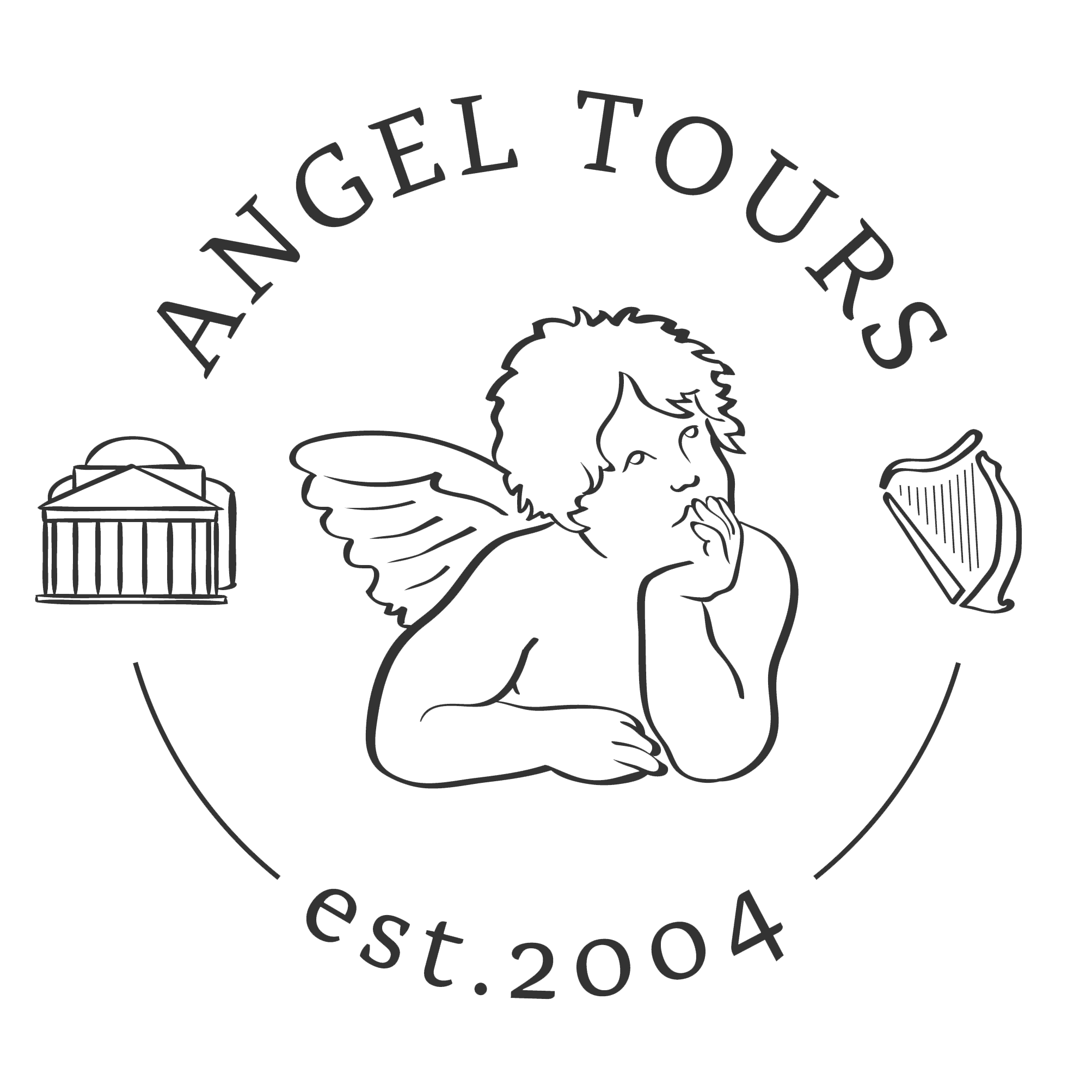 Pantheon drawing black and white. Rome angel tours