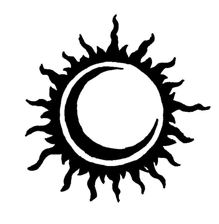 eclipse clipart tribal