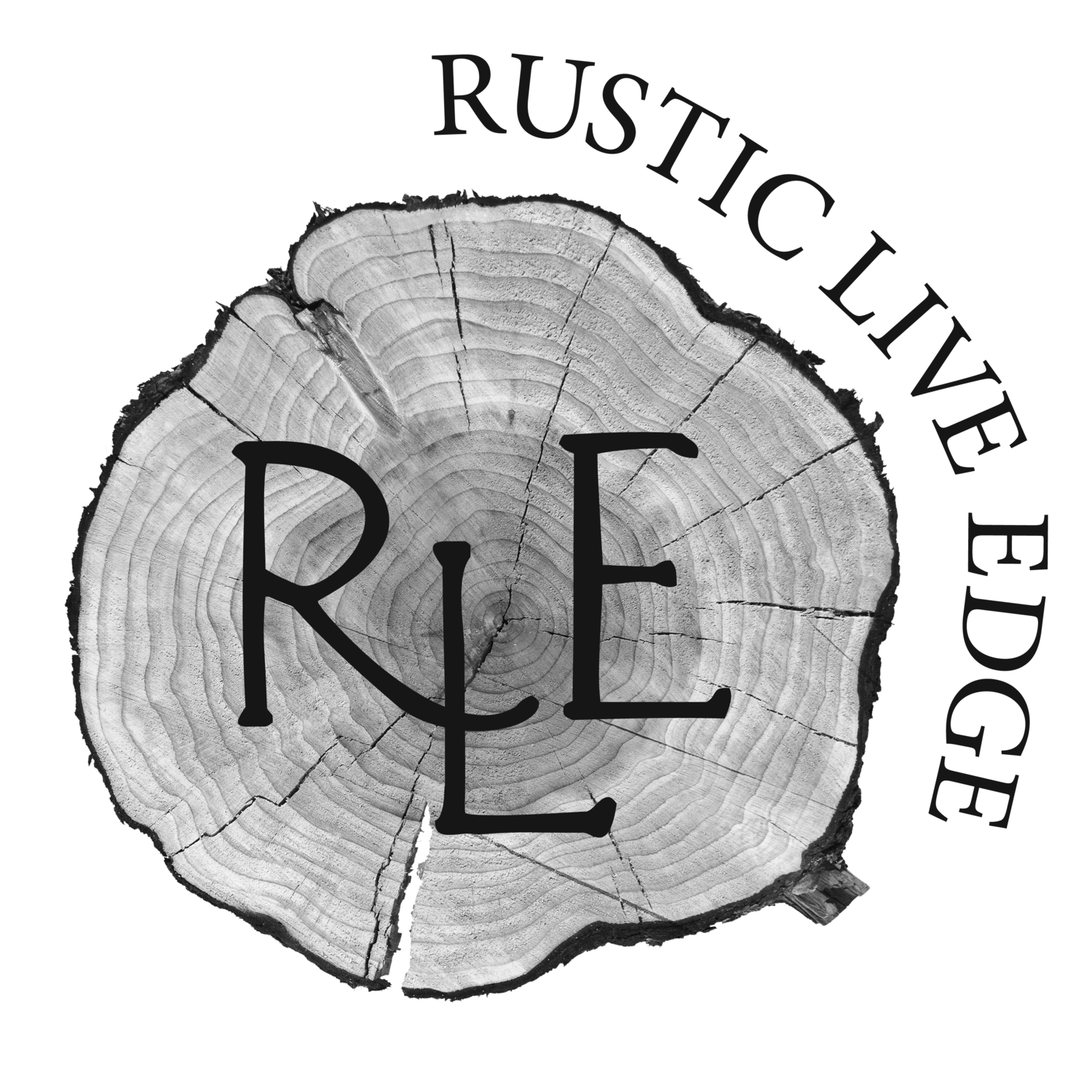 Edge drawing deforestation. Rustic live