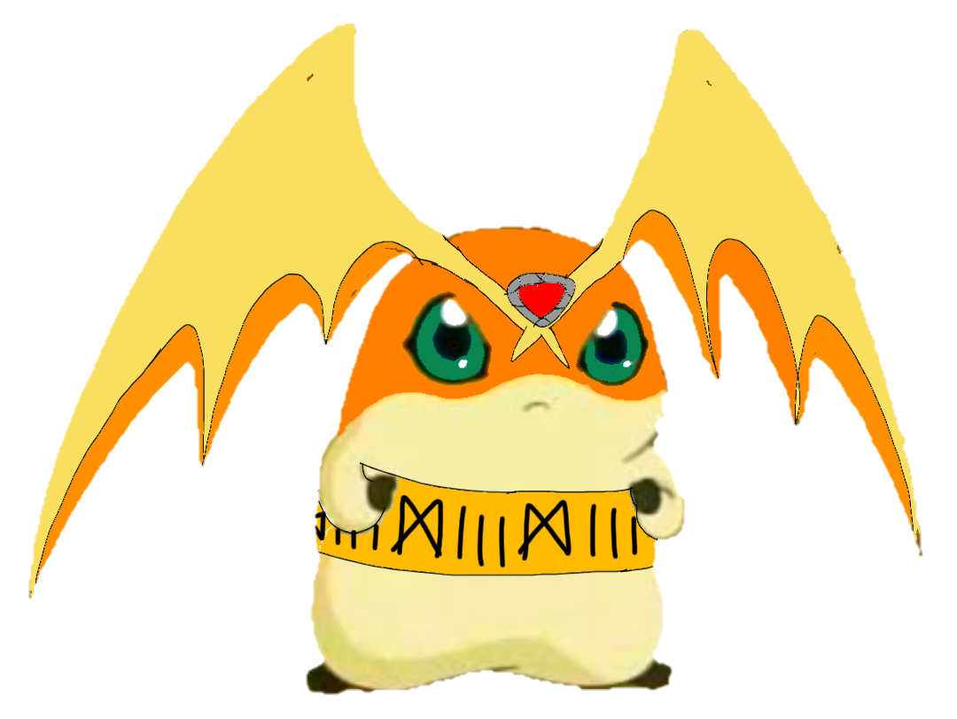 Edit png file on phone. Image patamon x fanart