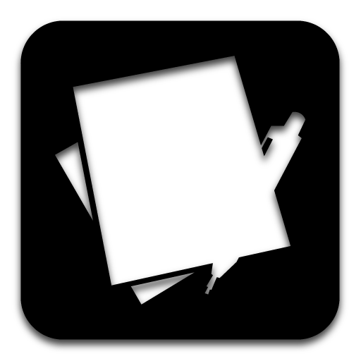 Edit png files. App text icon black