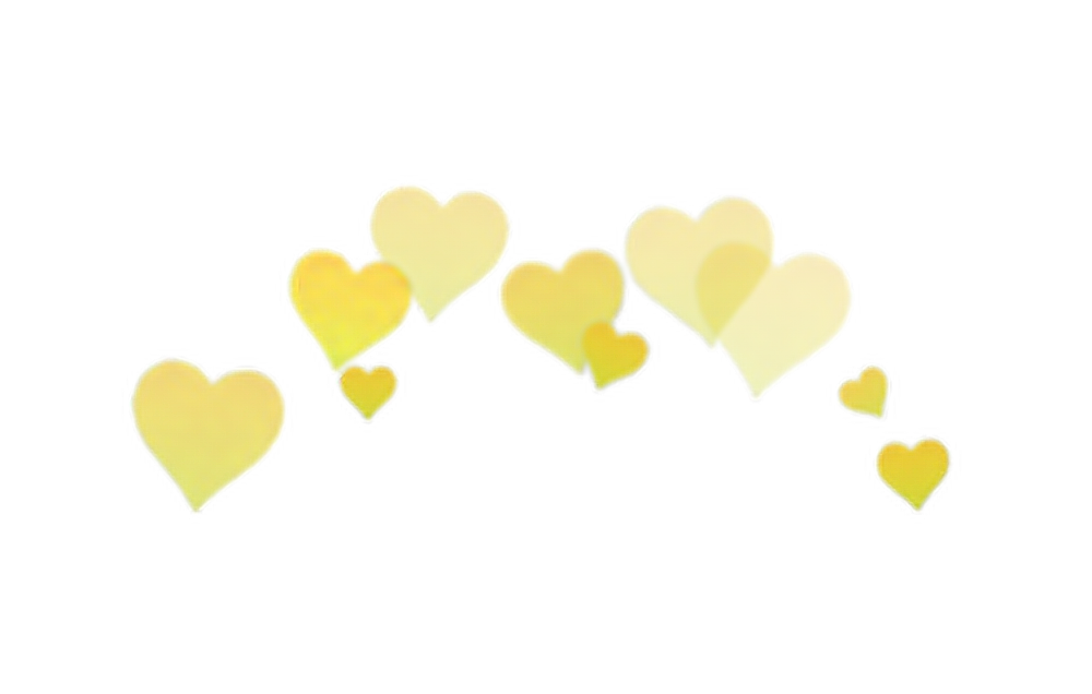 Yellow overlay edit report. Heart png tumblr royalty free download
