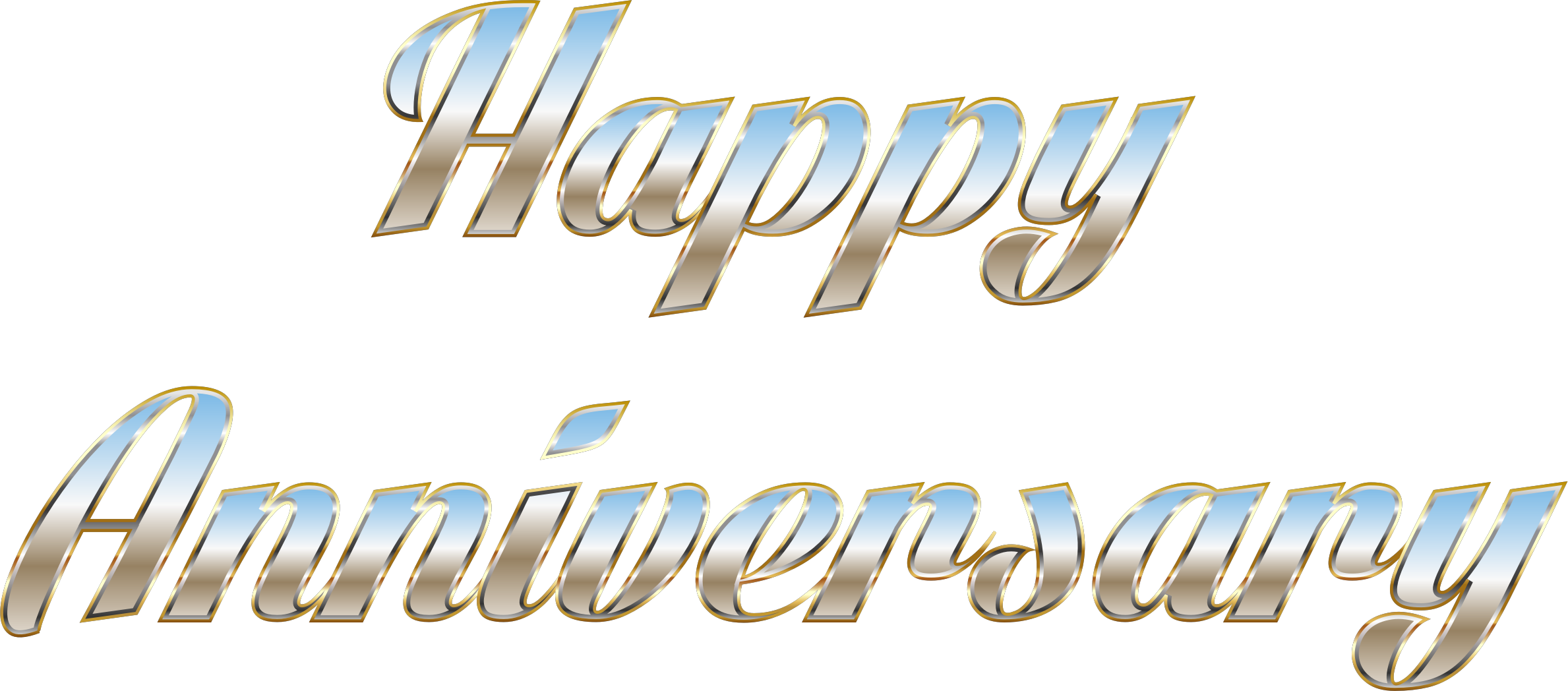 Happy aniversary png. Anniversary typography no background