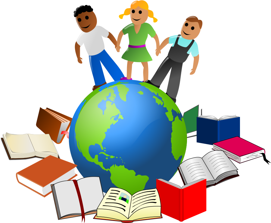 Education clipart. World clip art and