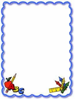 Education clipart frame. School clip art borders