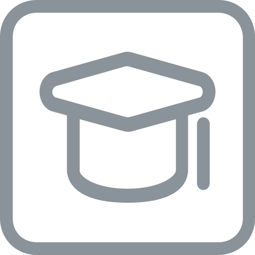 Educational vector college. Dada education icon with