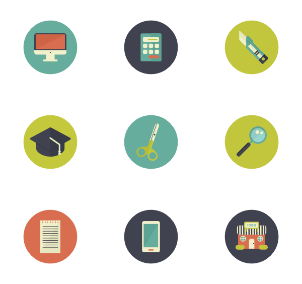 Educational vector creative. Webcam icons free education