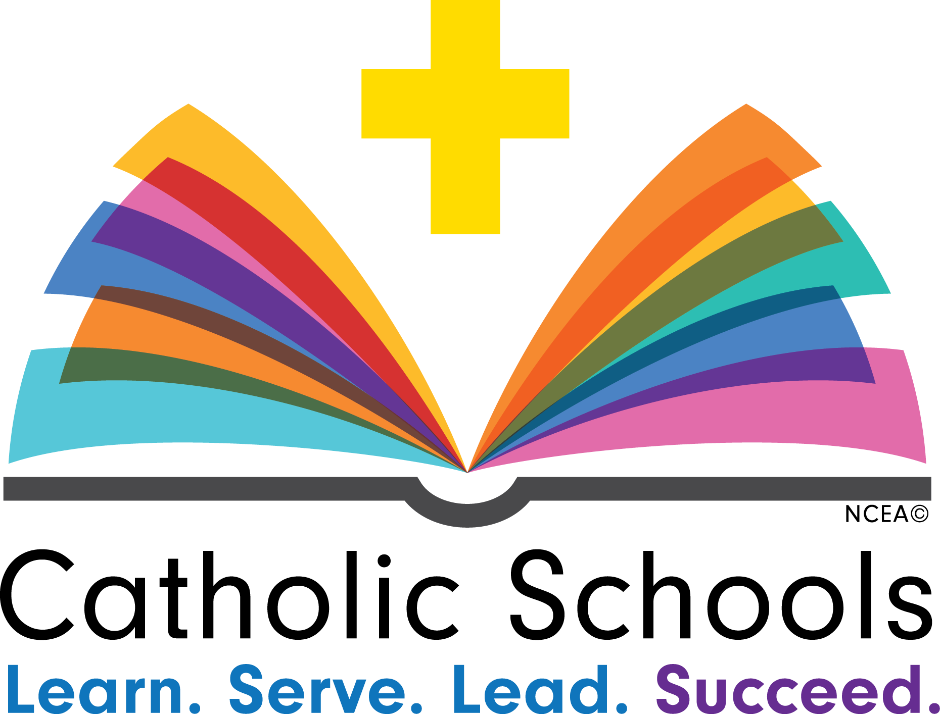 Educational vector education theme. Catholic schools week logos