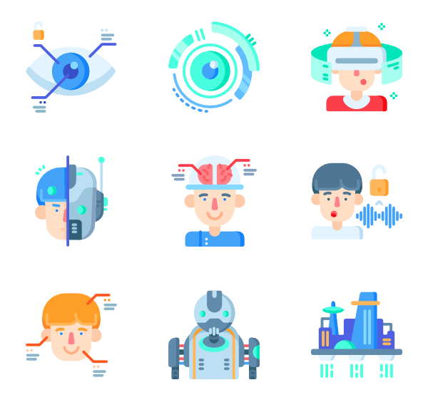Future vector information technology. Education elements free icons