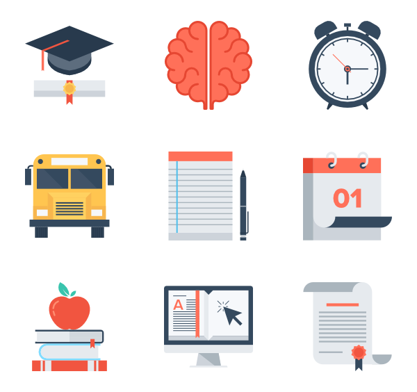 Educational vector knowledge. Education and icons free