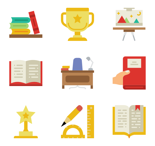 school tools icon. Educational vector picture stock