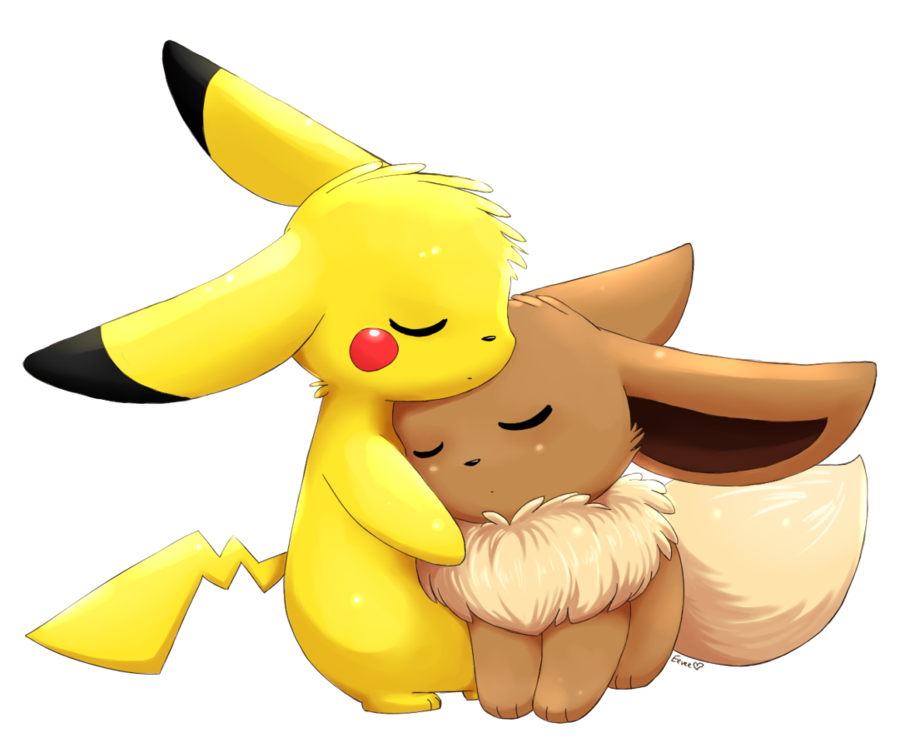 eevee and pikachu png