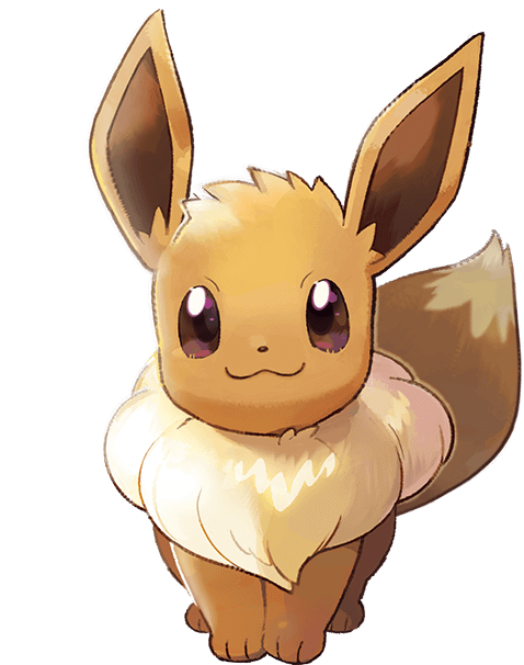 Eevee and pikachu png. Pok mon let s