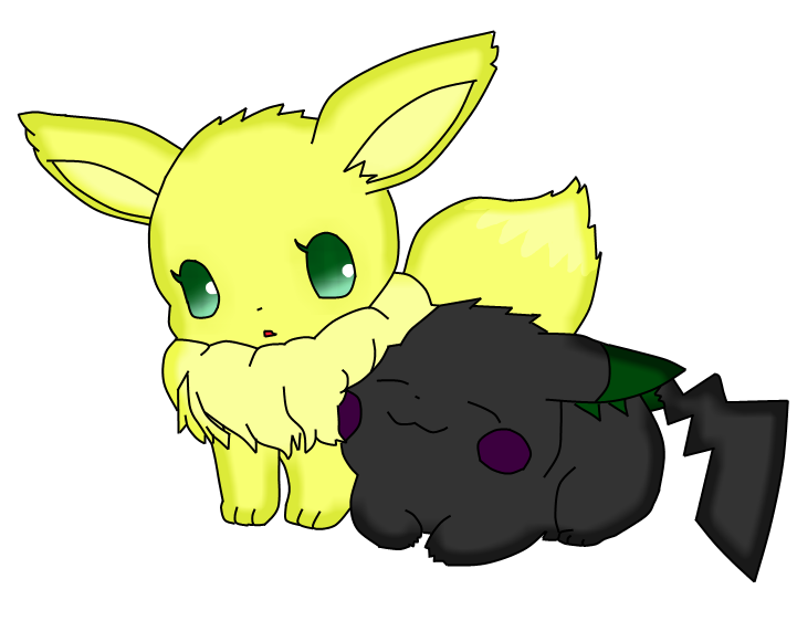 Eevee and pikachu png. X rose as no
