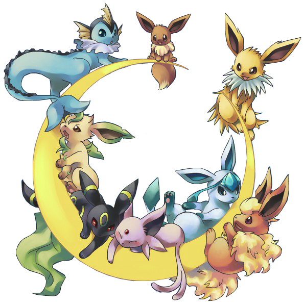 Eevee evolutions png. Evolution chart google search