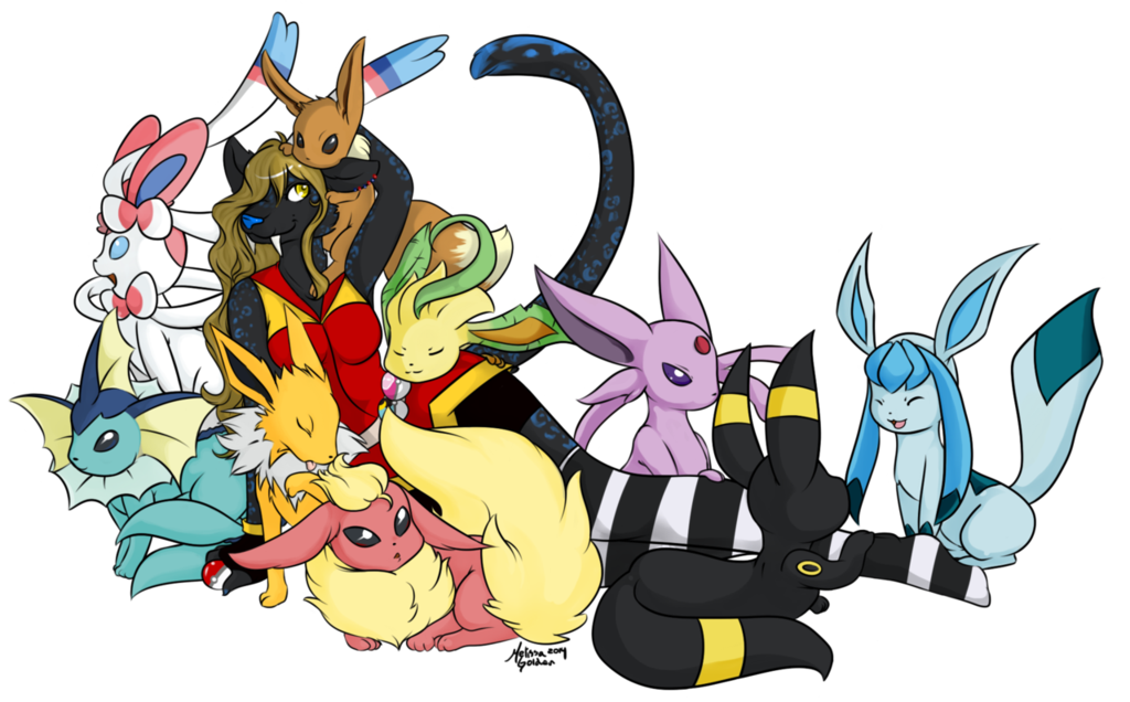 Eevee evolutions png. A love for all