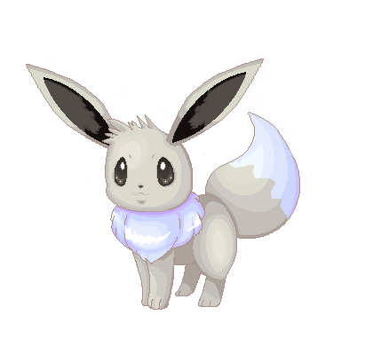 Eevee sprite png. Shiny by celestialgalaxies on