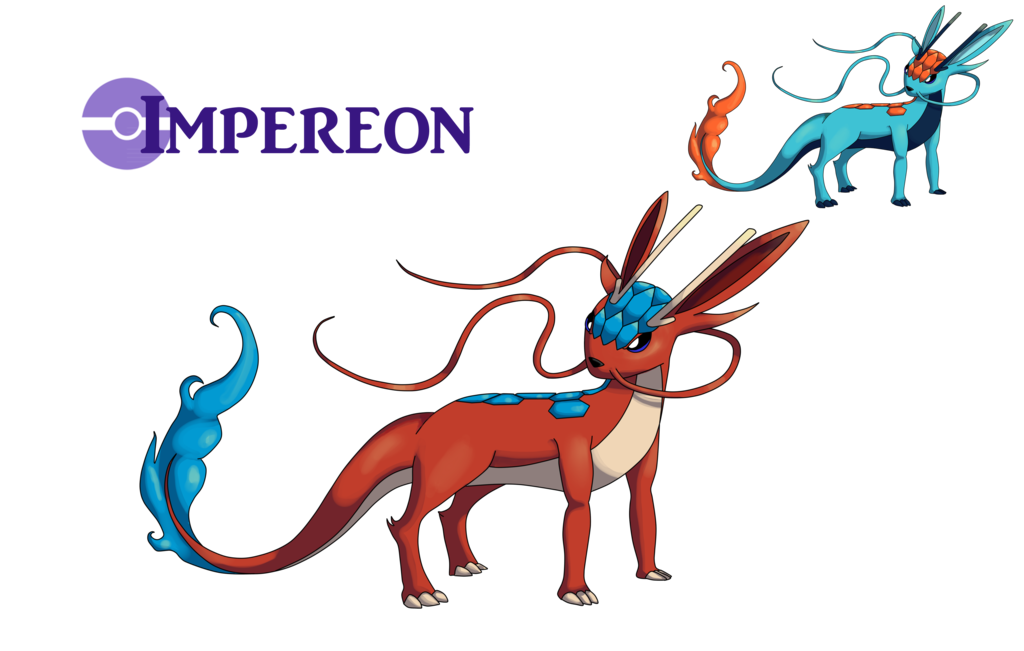 Eeveelution drawing epic. Dragon impereon by alphaxxi