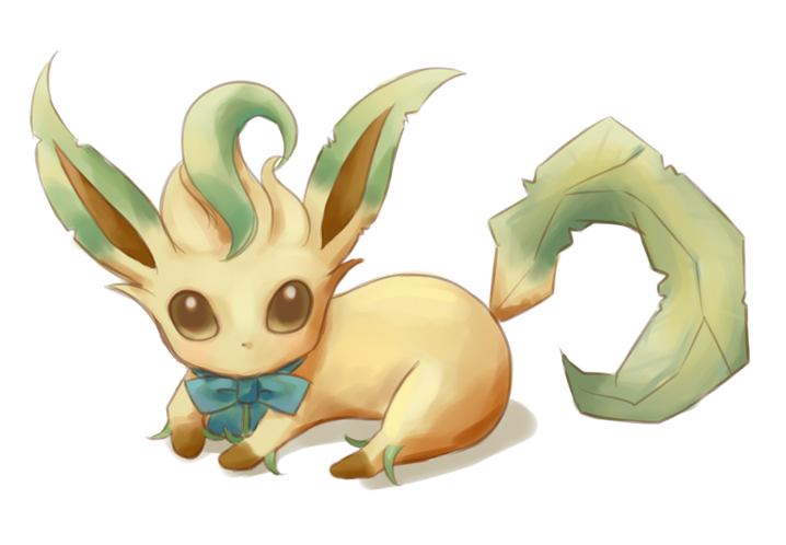 Eeveelutions drawing leafeon. By oi m on