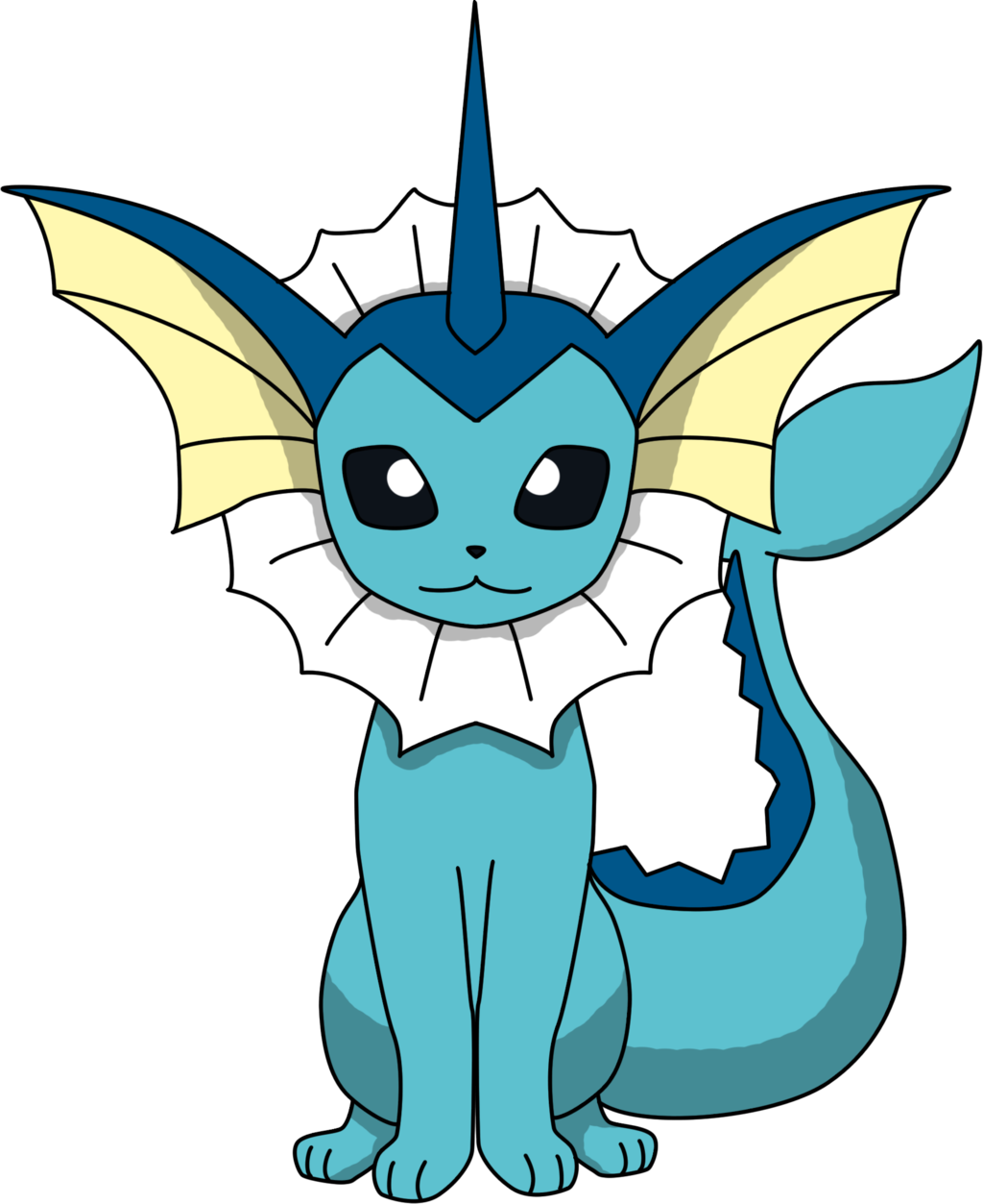Eeveelution drawing vaporeon. Sitting png by proteusiii