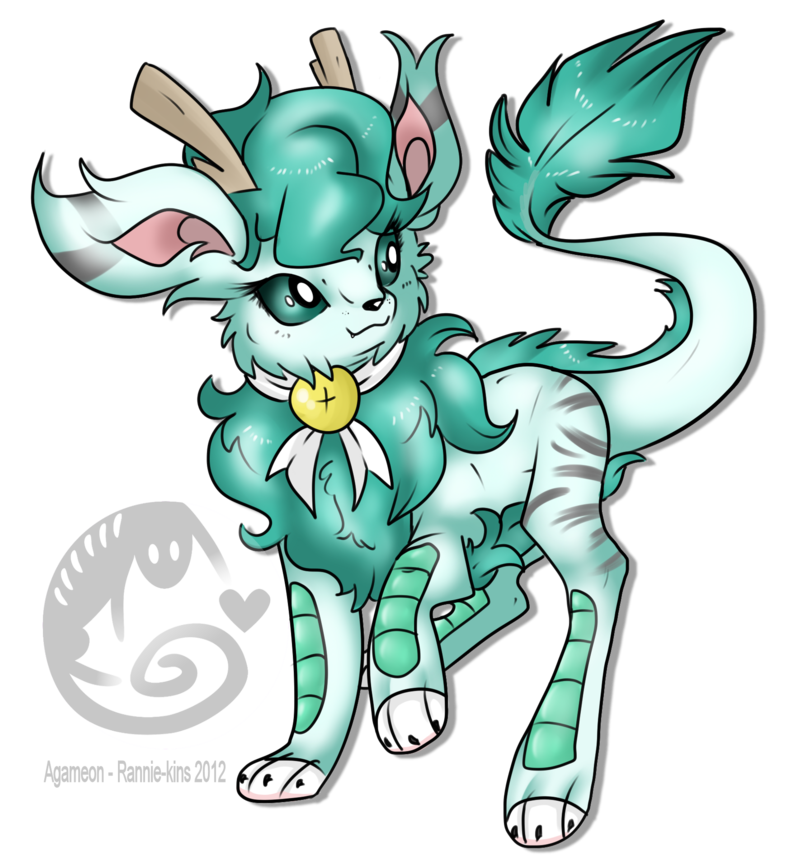 Eeveelutions drawing fake. Agameon eeveelution by rannarbananar