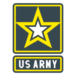 Military svg symbol. Us army filled icon