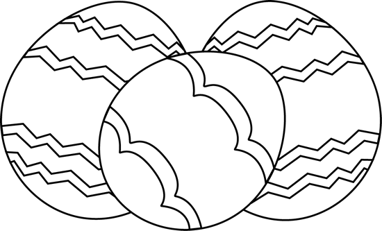 Egg clipart black and white. Three easter eggs clip