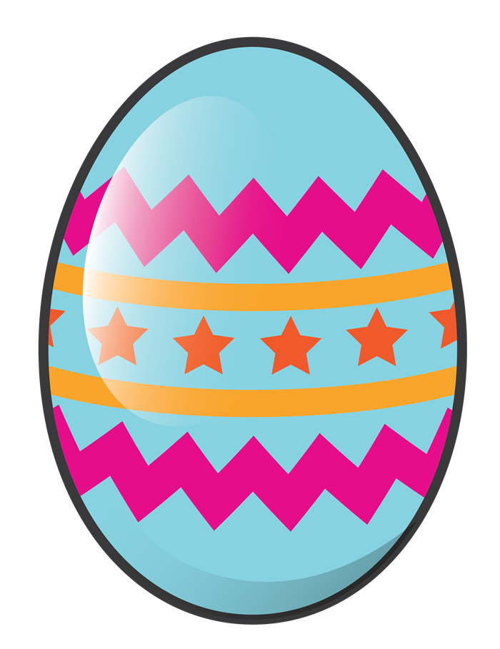 rainbow clipart easter egg
