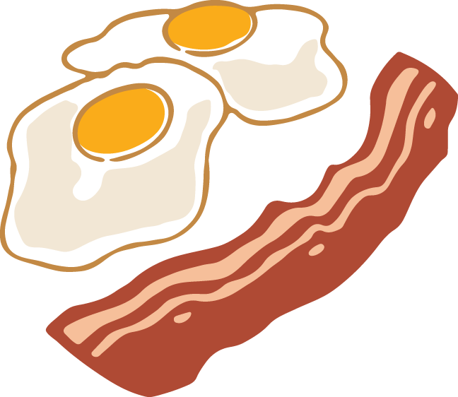 Transparent bacon single piece