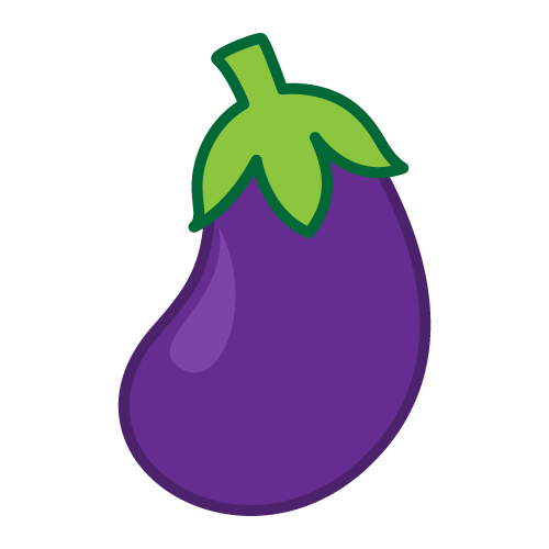 eggplant transparent one
