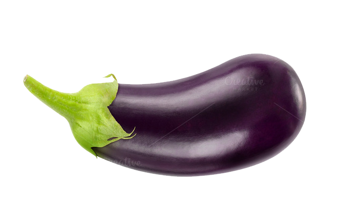 eggplant transparent outline