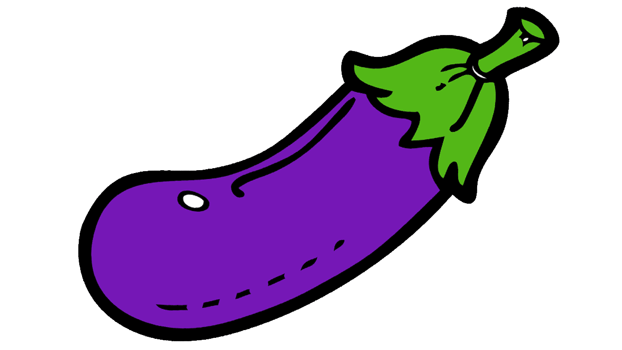 eggplant transparent kawaii