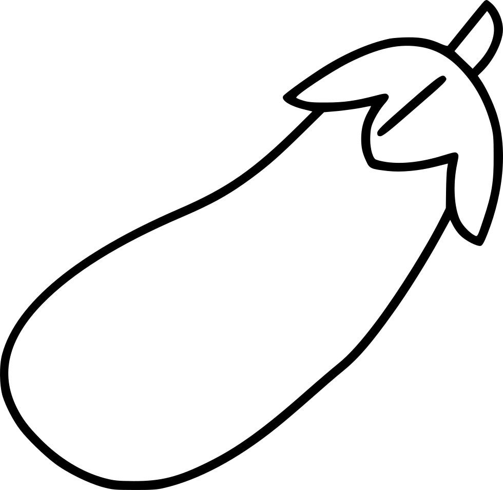 Eggplant line drawing png. Aubergine svg icon free