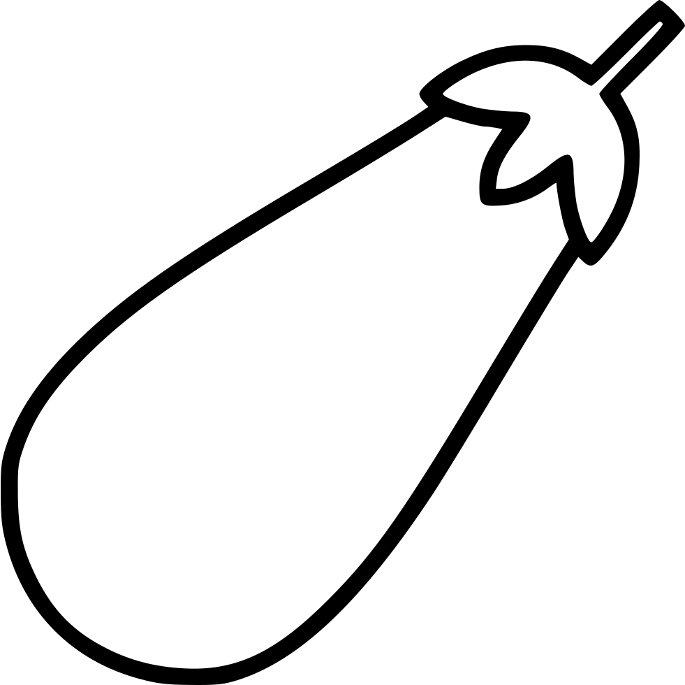 Eggplant line drawing png. Svg icon free download