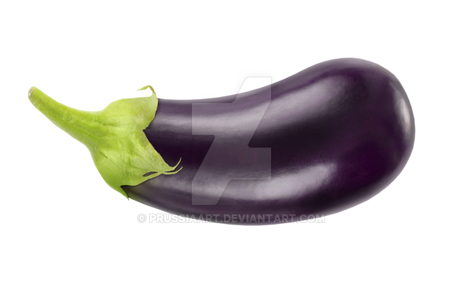 Eggplant transparent. Vegetable on a background