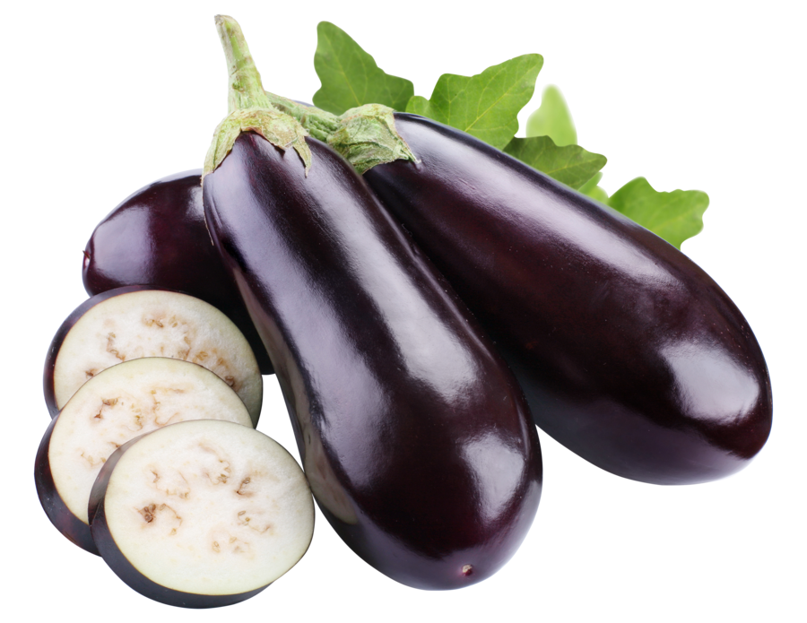 Eggplant png transparent. On a background by