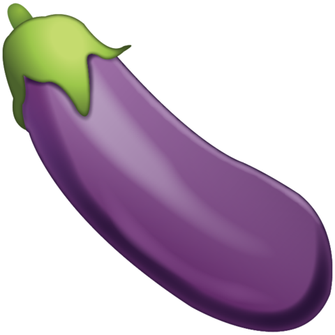 Eggplant transparent single. Emoji meanings and what