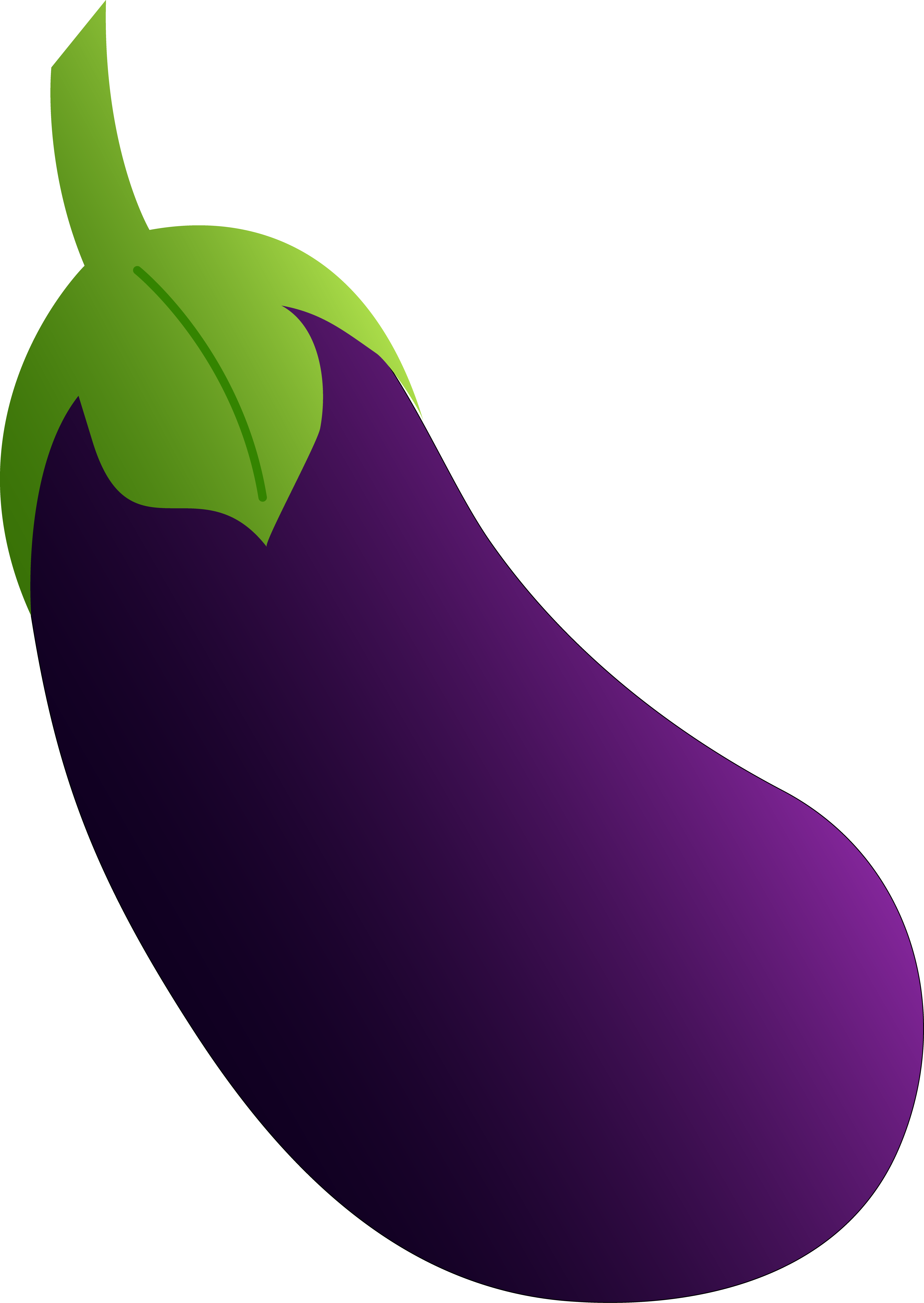 Eggplant vector coloring book. Vegetable clipart free clip
