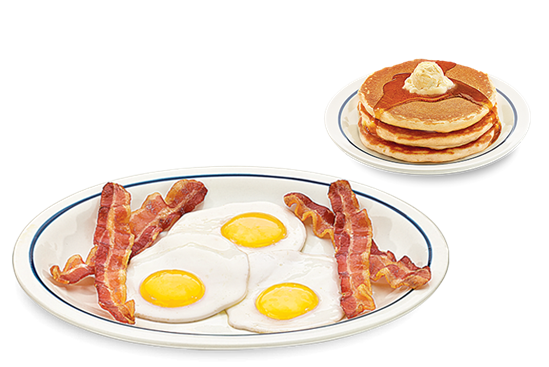 Eggs and bacon png. Order online ihop open